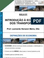 Economia Dos Transportes - Aula 01 (Introdução à Economia Dos Transportes - 2012)