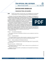 Convocatoria elecciones autonómicas Navarra 2015
