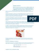 Multilayer Barrier for Food Packaging