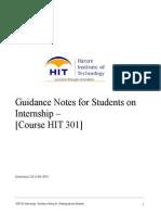 HIT301 Internship Guideline for Students