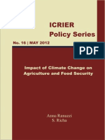 Climate Change Impact on Food and Agriculture India 2012 - ICRIER