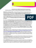Pronunciamiento (310315) - IM-DEFENSORAS MANIFIESTA SU PREOCUPACIÓN ANTE SENTENCIA CONDENATORIA CONTRA LA DEFENSORA HONDUREÑA GLADYS LANZA