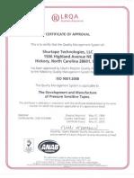 ISO Certificate SH