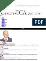 La Crónica de Hoy | Enrique Peña Nieto, visión de Estado - Dr. Manuel Añorve Baños