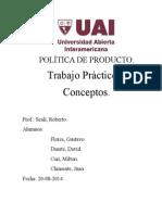 Política de Producto Conceptos