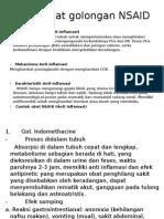 Obat- Obat Golongan NSAID