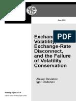 exchange rate volatility
