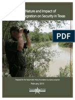 The Nature and Impact of Illegal Immigration on Security in Texas