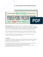 Kiat Membuat Presentasi PowerPoint Yang Menarik