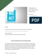 we act proposal