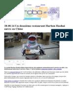 Robot for Restaurent