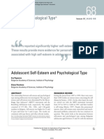 Adolescent Self-Esteem and Psychological Type