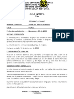 Leonísitco - Psicología - Informe Diego Dejeas.