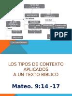 Tipos de Contexto en la Biblia.