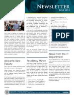 SJSM NEWSLETTER Saint Jasdfmes Medical School June 2014 Newsletter