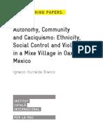 Autonomy, Community and Caciquisimo