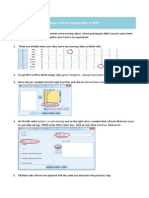 How to Enter Missing Data in SPSS