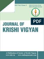 Journal of Krishi Vigyan Vol 3 Issue 2