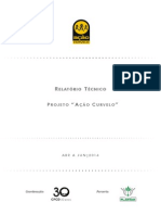Relatório Técnico Ação Curvelo  - Abr a jun 2014