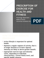 5. Prescription of Exercise for Health and Fitness