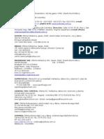 Contactos especialidades en Colombia