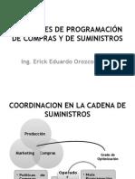 Decisiones de Programación de Compras y de Suministros