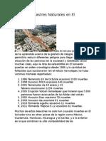 Lista de desastres Naturales en El Salvador