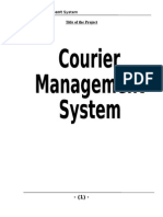 Courier Management System Project Report