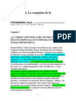 La Conquista de La Abundancia_Paul Feyerabend
