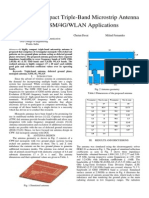 Highly Compact Triple-Band Microstrip Antenna