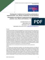Participación e incidencia en las prácticas profesionales y organizacionales