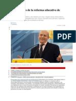 Las 14 Claves de La Reforma Educativa de Wert