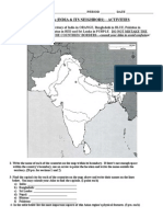 india and its neighbors activity project