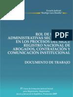 Rol de Las Salas Administrativas