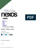 Auden Risa y Rezo - Jesús Silva-Herzog Márquez