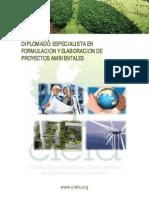 Diplomado Especializado Elaboracion Evualuacion Proyectos Ambientales