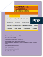 Esl Flow, Collection of PDF for Writing Practice