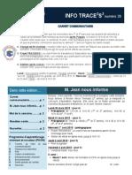 Info-TRACEESS Numéro 28, le 30 mars 2015