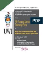 Invitation.........Laureates Series-Celebrating Poetry.