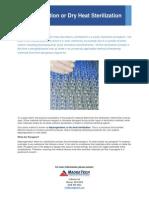 Depyrogenation or Dry Heat Sterilization