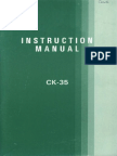 Brother Ck35 User Guide