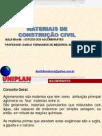 Aula de MAteriais de Construção _05 e 06 _2014( Aglomerantes).pdf