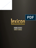Lexicon PCM Native Reverb Bundle Owner's Manual
