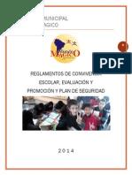 Colegio Municipal Reglamento Modificado 2014.