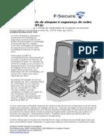 CONSULTCORP F-SECURE Brasil Teve o Triplo de Ataques à Segurança de Redes Em 2014, Diz CERT.br