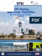 2013 East Africa GIST Boot Camp Brochure