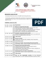 2012 Turkey GIST Boot Camp Program