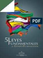 5 Leyes Fundamentales del Estado Plurinacional.