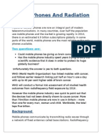 Mobile Phones And Radiation.docx
