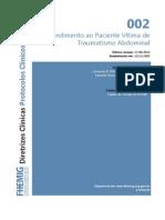002 Atendimento Paciente Vitima Traumatismo Abdominal 09-09-2014
